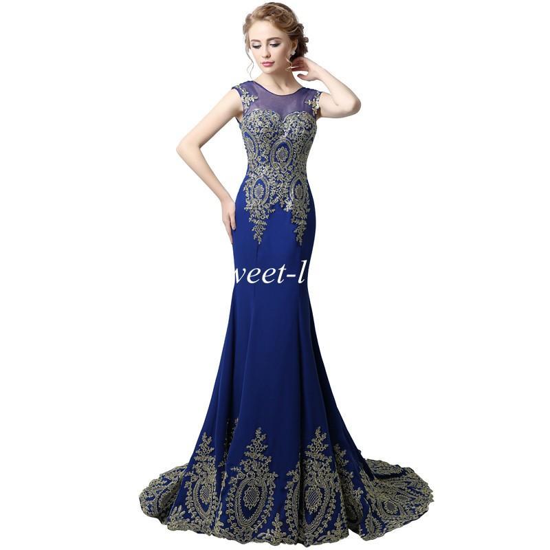 XU039 Vestidos de baile largos baratos 2019 Mermaid Sheer Jewel Dark Road Cordillo Corset Imágenes reales Maxi Fiesta Vestidos de noche Vestidos para Pageant