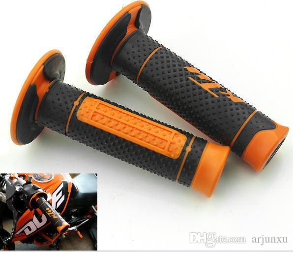 """7/8 """"22mm Apertos de Mão para Motocicleta Alça de Borracha Barra de Gel Aperto Laranja Acessório Modificado para KTM Duke 125 200 390 690 990 Motocross"""
