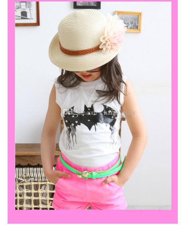 ... Girls lovely beautiful sun hat! Flower Baby Sun Hats Kids Straw Fedora  Hat Baby Caps ... 760a2673a8a