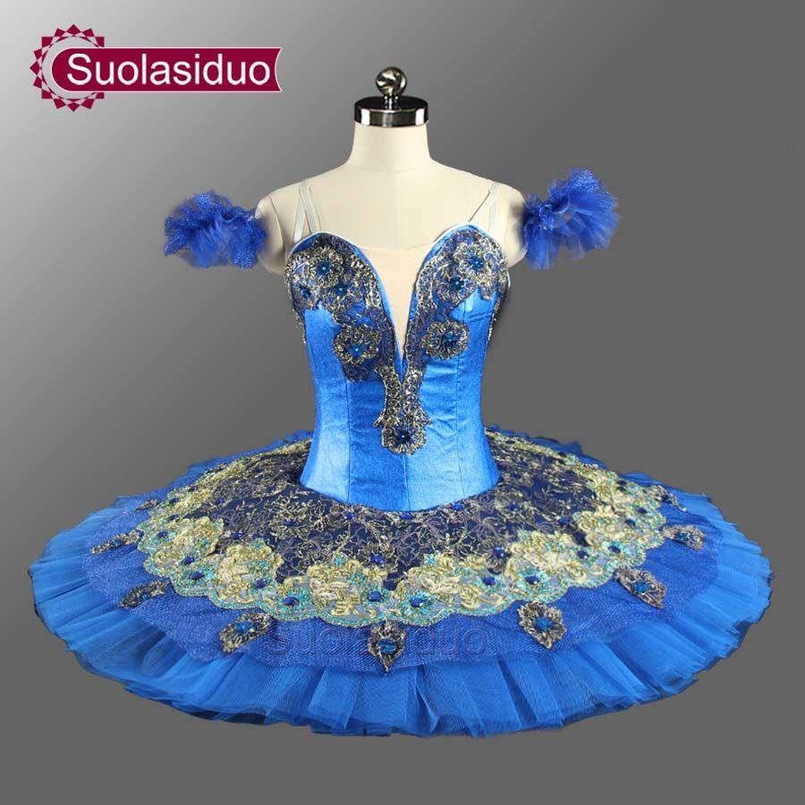 Adult Professional Ballet Tutus Navy Blue Women Le Corsaire Classical Ballet Tutu Ballerina Stage Costumes Tutu Dress SD0074