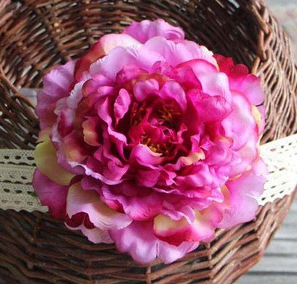 """HOT Silk Single Peony Fleur Dia. 16cm / 6.3 """"30Pcs Artificielle Alice Peonia Pivoines Camellia pour le Centre de Mariage 8 Couleurs"""