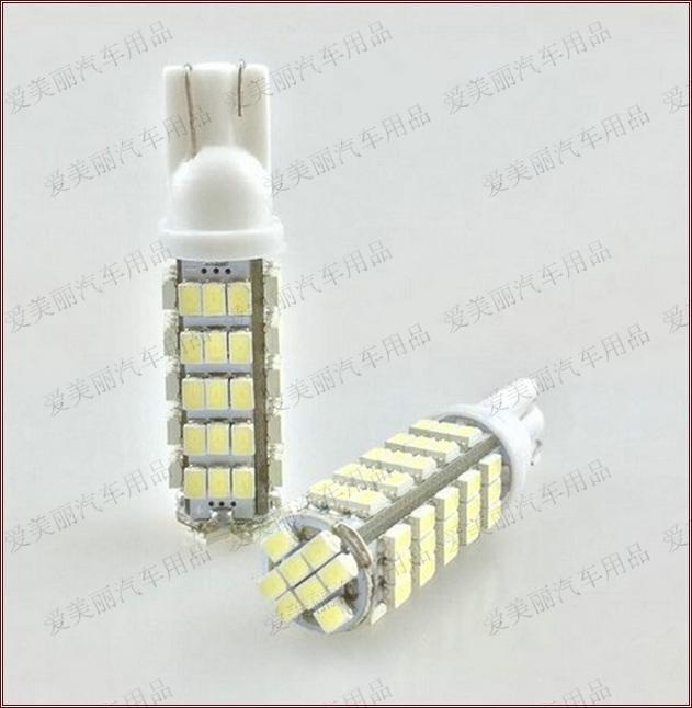 Hot 4pcs T10 68 SMD 1206 Super Bright 68LED Luci interne Lampadina Led per auto Lampadina laterale 68smd