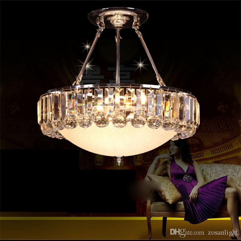 Modern Chandeliers E14 E12 LED Pendant Lamps Silver Body Crystal LED Pendant Lamps with 8pcs 9pcs LEDs 110V 220V Voltage High Quality sj-005