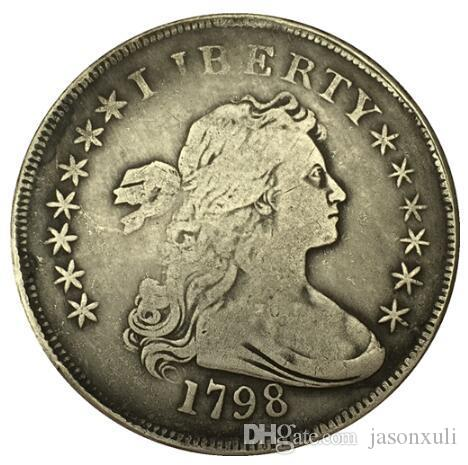 1798 type1 Draped Bust Dollar 코인 복사본 무료 배송