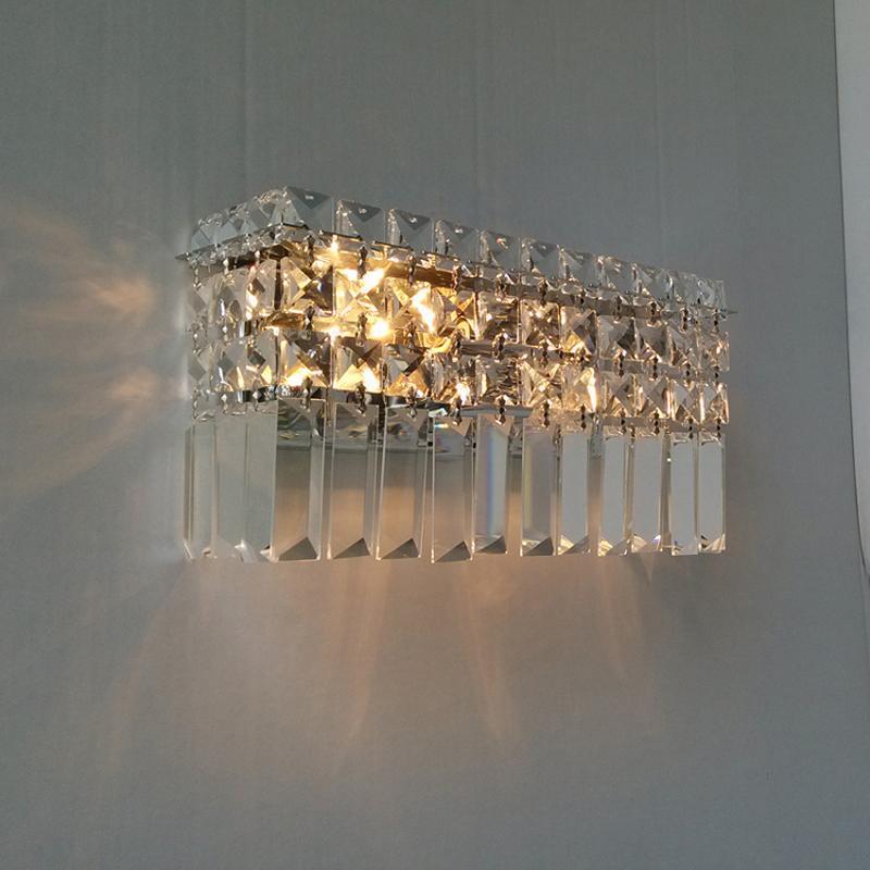 Modern kristal duvar lambası yatak odası başucu lambası koridor koridor duvar ışıkları Lüks oturma odası duvar aplik ışıkları kristal kithen kristal aplik