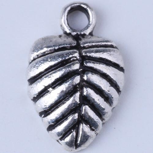 Nova moda de prata / cobre retro Dangle encantos em forma de coração deixa fabricação DIY jóias pingente 1000pcs / lot 1400c