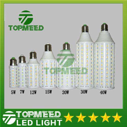 DHL Led Mısır ışık E27 E14 B22 SMD5050 85-265V 5W 7W 12W 15W 20W 30W 40W LED ampul 360 derece Aydınlatma Lambası 20