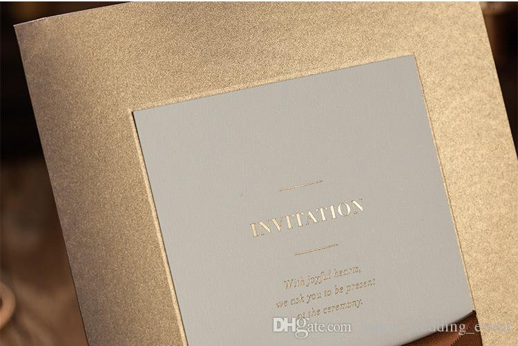 Cheap Luxury Gold Party Business Conference Invitation Card Pocket – Luxury Party Invitations