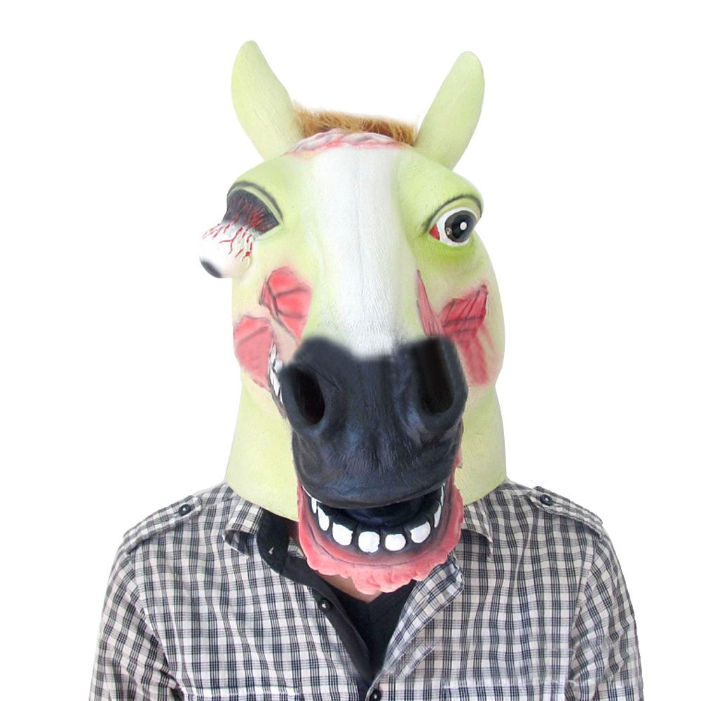 ... Halloween Costume Theater Scary Party Mask Latex Funny Creepy Horse Mask Head Full face mask Prop ...  sc 1 st  DHgate.com & Halloween Costume Theater Scary Party Mask Latex Funny Creepy Horse ...