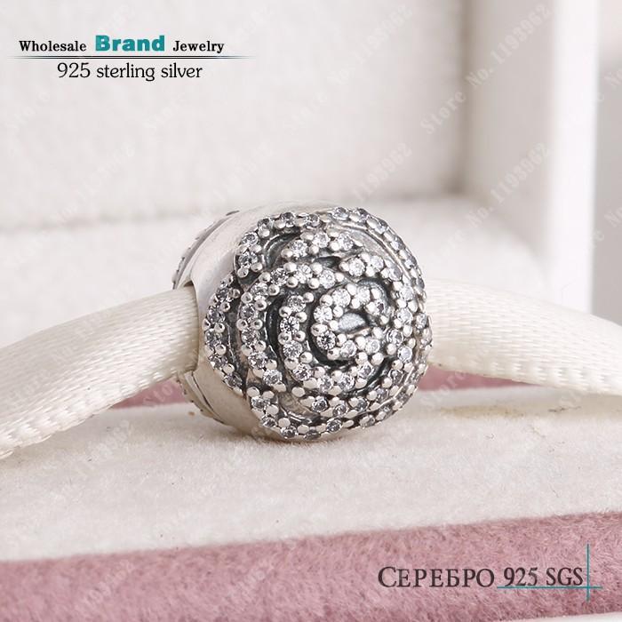 pandora charms clip rose