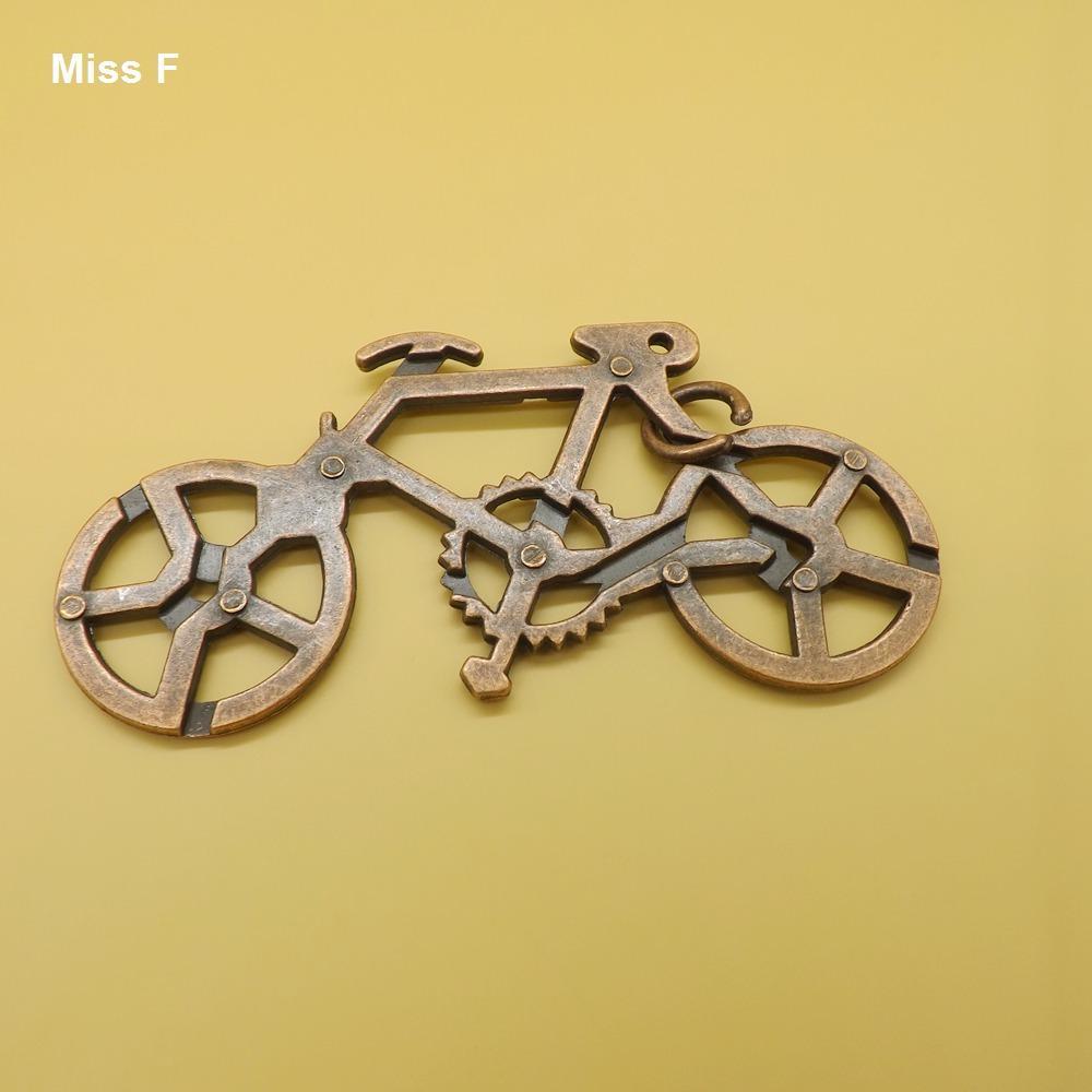 الكلاسيكية 3D لغز المعادن المصبوب الدراجة سحر سبائك معادن دراجات حلقة لغز لعبة الكبار هدية