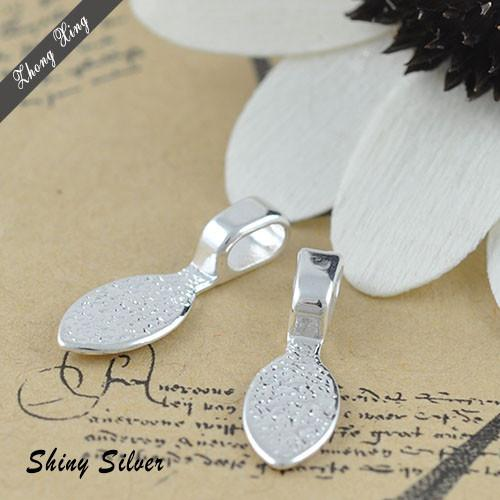 2018 sterling silver plated water drop glue on bails shiny silver sterling silver plated water drop glue on bails shiny silver bails for glass tile pendants mozeypictures Images