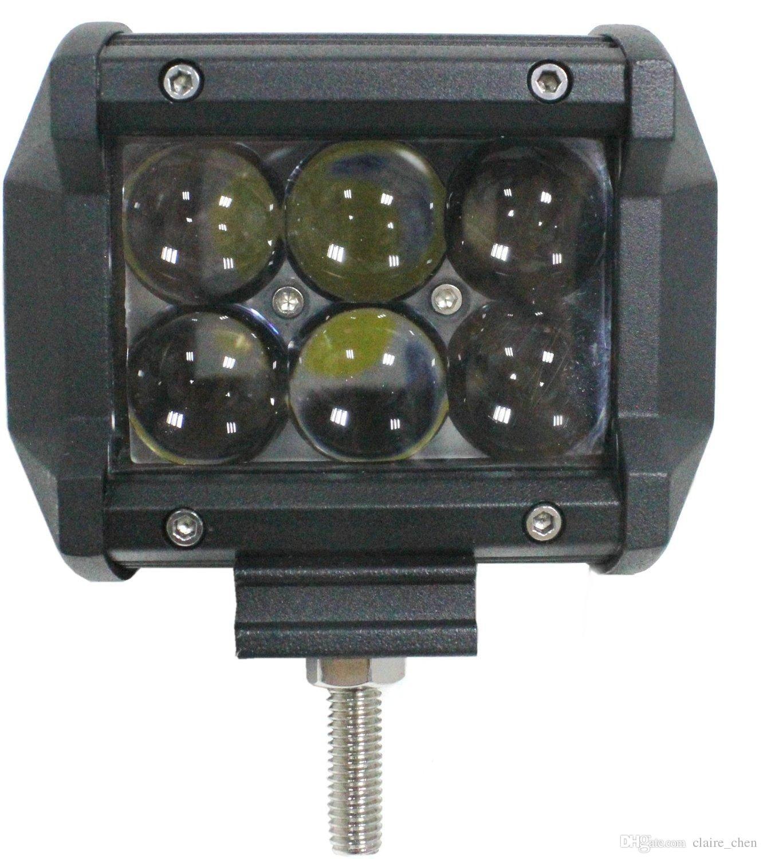 2 X 4inch 18W LED Work Light Bar Offroad Flood Beam Lamp Bar 4X4 4WD Car Truck