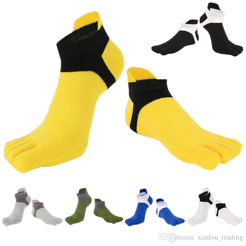 All Season Erwachsene Sport Zehensocken Männer Frauen Casual Socken Neutral Atmungsaktives Mesh Weichen Komfort Fuß Füße Finger Socken 6 Farben Für Verkauf