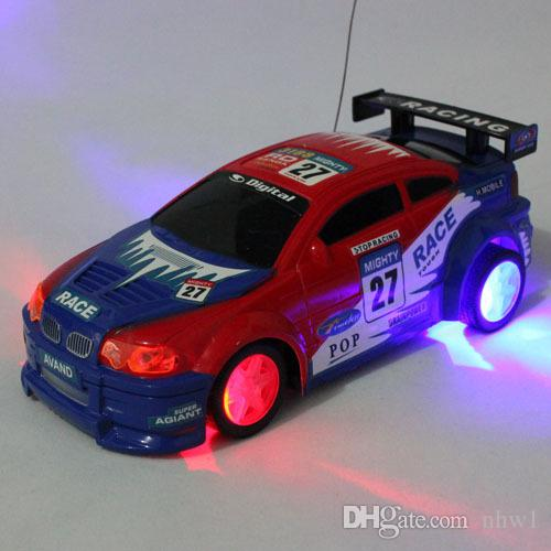 hot sale remote control car eletric light flash car bling tire automobile race car toys children kids gift free shipping