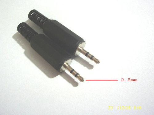 20 قطع 2.5 ملليمتر ستيريو ذكر التوصيل جاك الصوت محول لحام موصل