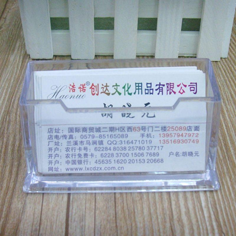 Hot Sale Plastic Business Card Holder Transparent Card Display Stand ...