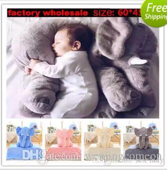 5 색 코끼리 베개 아기 인형 어린이 수면 베개 생일 선물 INS 허리 베개 긴 코 코끼리 인형 부드러운 플러시 60 * 45 * 25cm