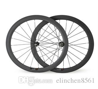 Wheelset 700c 38mm copertoncino in carbonio con superficie frenante in basalto 3k / matt / finitura lucida set ruote bici da strada 25mm con 20 / 24h