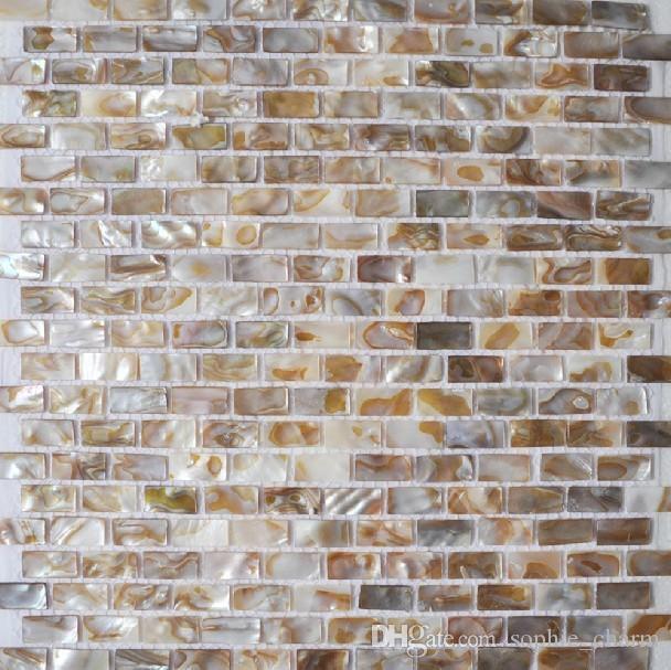 Wholesale 15x25mm Brick Mother of pearl tile backsplash shell mosaic kitchen tiles MOP035 natural pearl bathroom tile