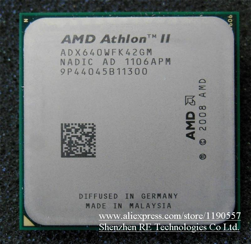 Processeur AMD Athlon II X4 640 (3,0 GHz / 2 Mo / Socket AM3) Processeur à quatre cœurs dispersés