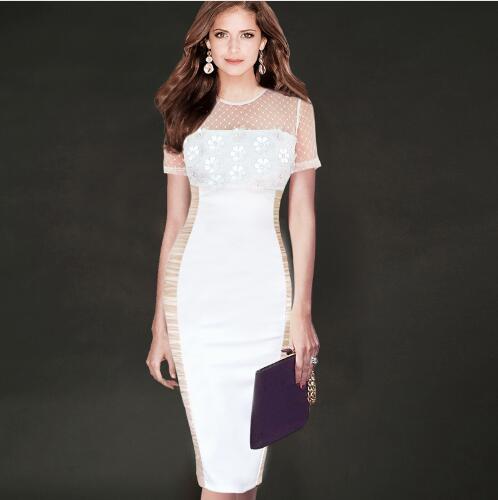 lcw новая мода Женская элегантный сексуальный видеть сквозь выдалбливают сетки 3D цветы Ruched иллюзия партии оболочка установлены карандаш Bodycon платье lcw687