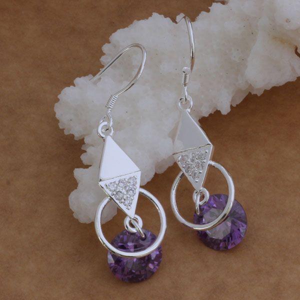 Di modo (monili Manufacturer) 20 pc una losanga molto con orecchini di diamanti gioielli in argento sterling 925 orecchini prezzo di fabbrica di moda di lustro
