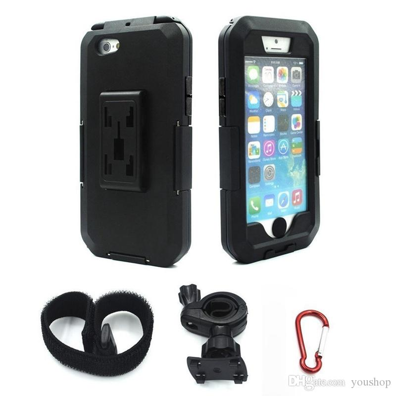 360° Motorcycle Multifunctional Phone Case Holder Mount Waterproof For iPhone 6