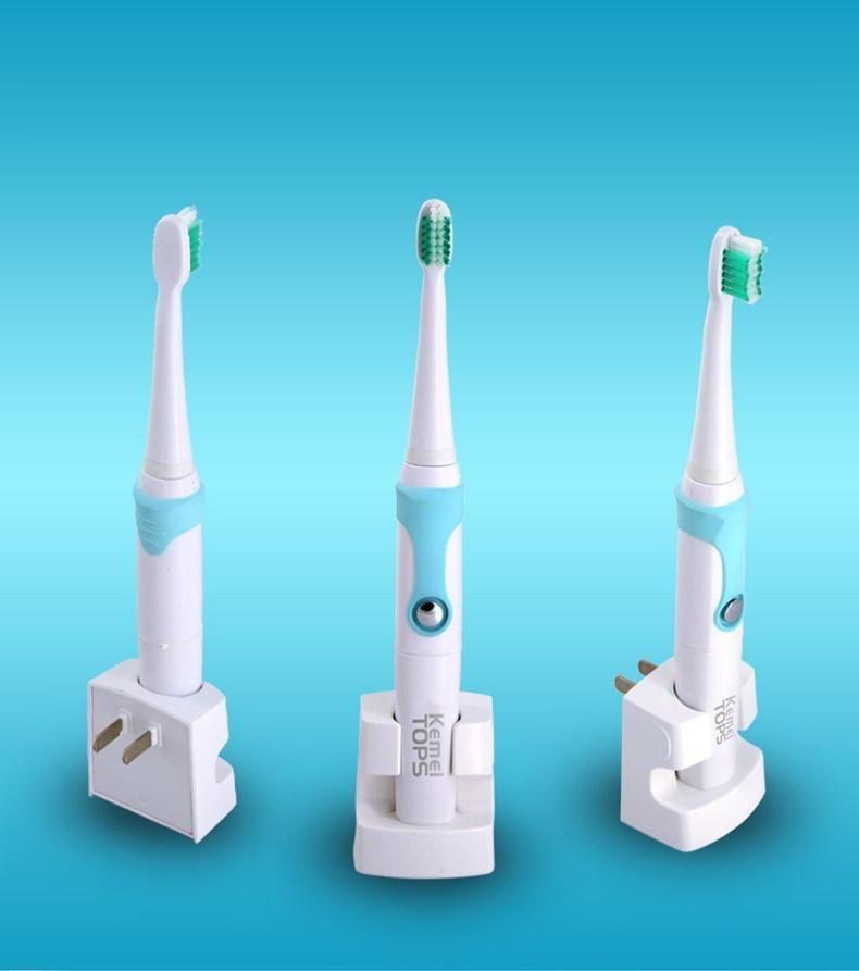 Kemei KM907 rechargeable Brosse à dents électrique à ultrasons dents brosse dents brosse à dents rechargeable avec 3 têtes de rechange DHL Ship gratuit