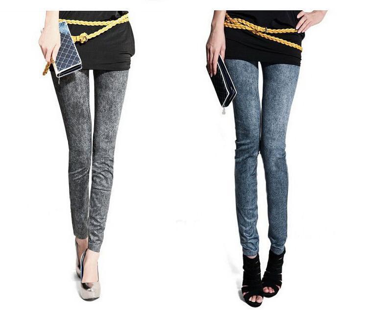 Women Pants Sexy Leggings Free Style Women`s Printed Leggings Jeans Cheap Ripped Denim Spandex Graffiti Fitness Legging