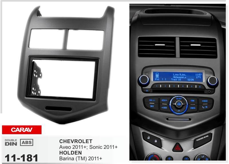 Carav 11 181top Quality Radio Fascia For Chevrolet Aveo Sonic