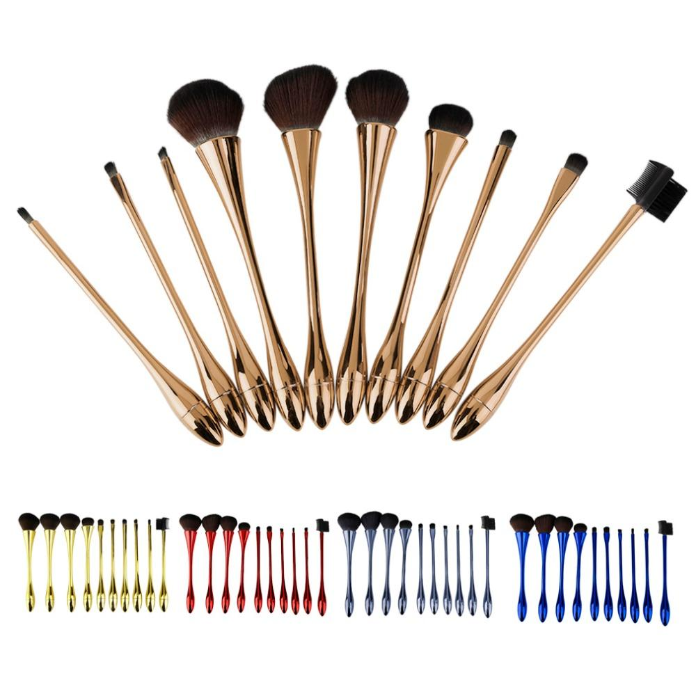 10pcs/Set Professional Facial Makeup Brush Set Female Cosmetic Eyeshadow Lip Foundation Make Up Brushes Set Hot Sale Cheap