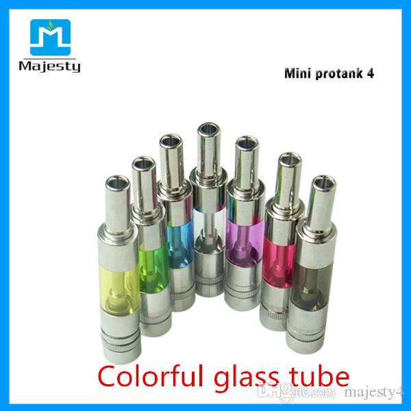 2015 Majesty Clearomizer Pure Taste Dual Coils Pyrex Glass Mini Protank 4 Bottom Dual Coil BDC Clearomizer 1.6ml Free Shipping