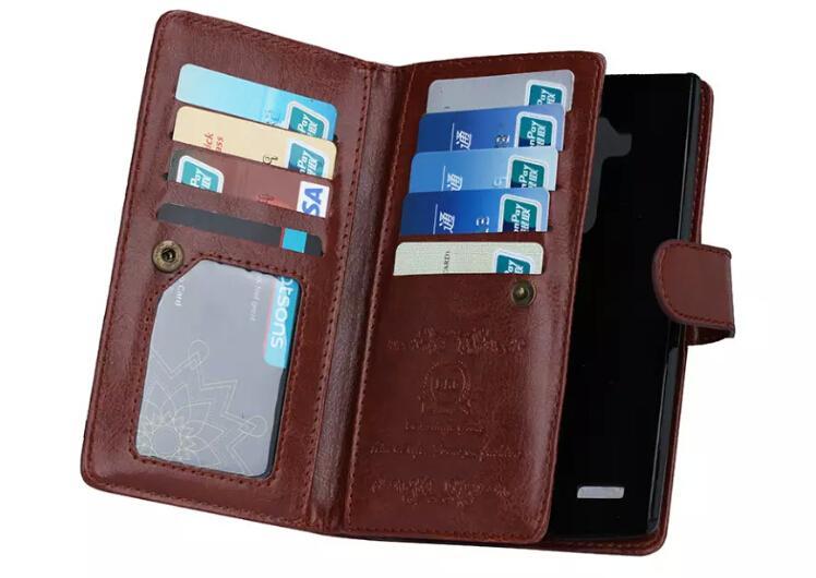 Magnétique 2 en 1 Porte-monnaie en cuir avec 9 Porte-cartes + trésorerie feuillure + de cas Cadre photo de téléphone pour iPhone 6 7 plus XR XS