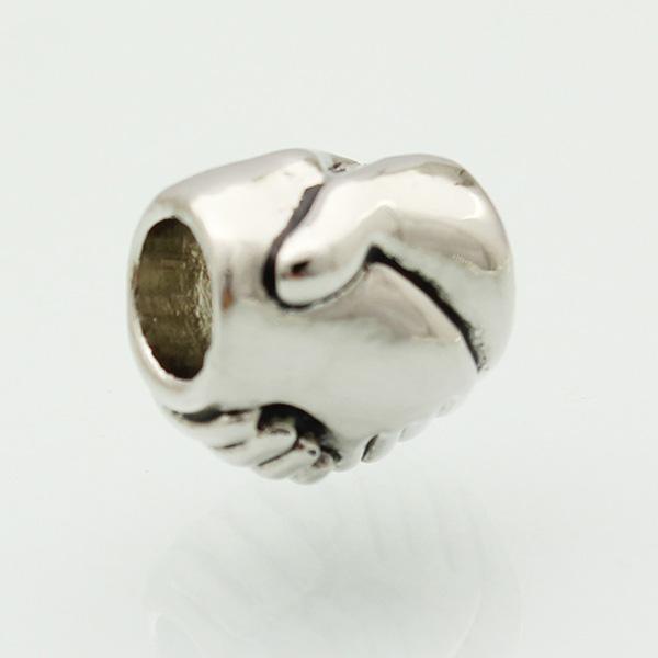 Металлический слайдер Sapcer родиевое покрытие сотрудничать символ Европейский бисер Fit Пандора Чамилия Биаги браслет