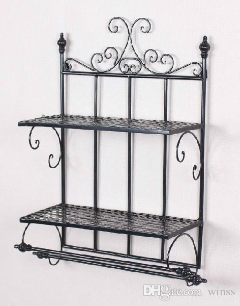 wrought iron bathroom shelf. Wrought Iron Bathroom Shelf Hanging Towel Rack, Sanitary Ware Receive Rack In European L