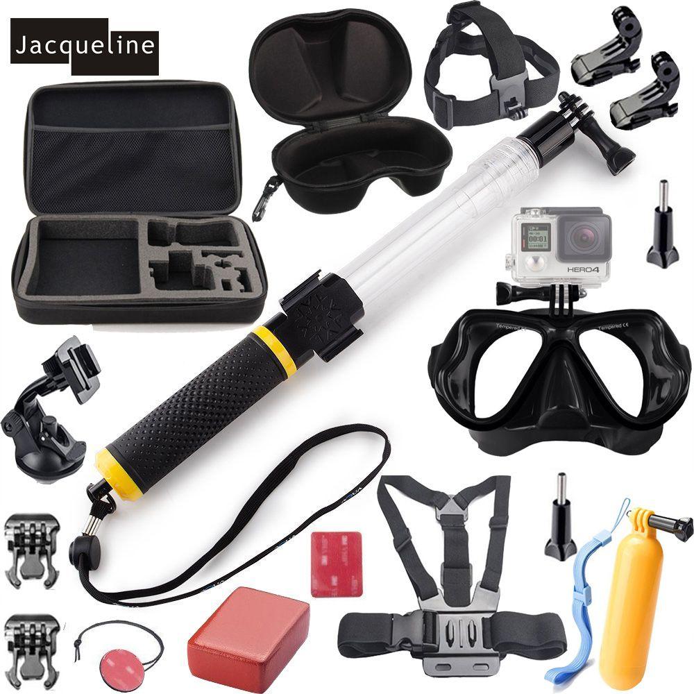 Freeshipping Diving Underwater Waterproof Mount Accessories Kit Set For GoPro Hero 5 4 session 3+ 3 2 SJCAM SJ4000 EKEN H9R