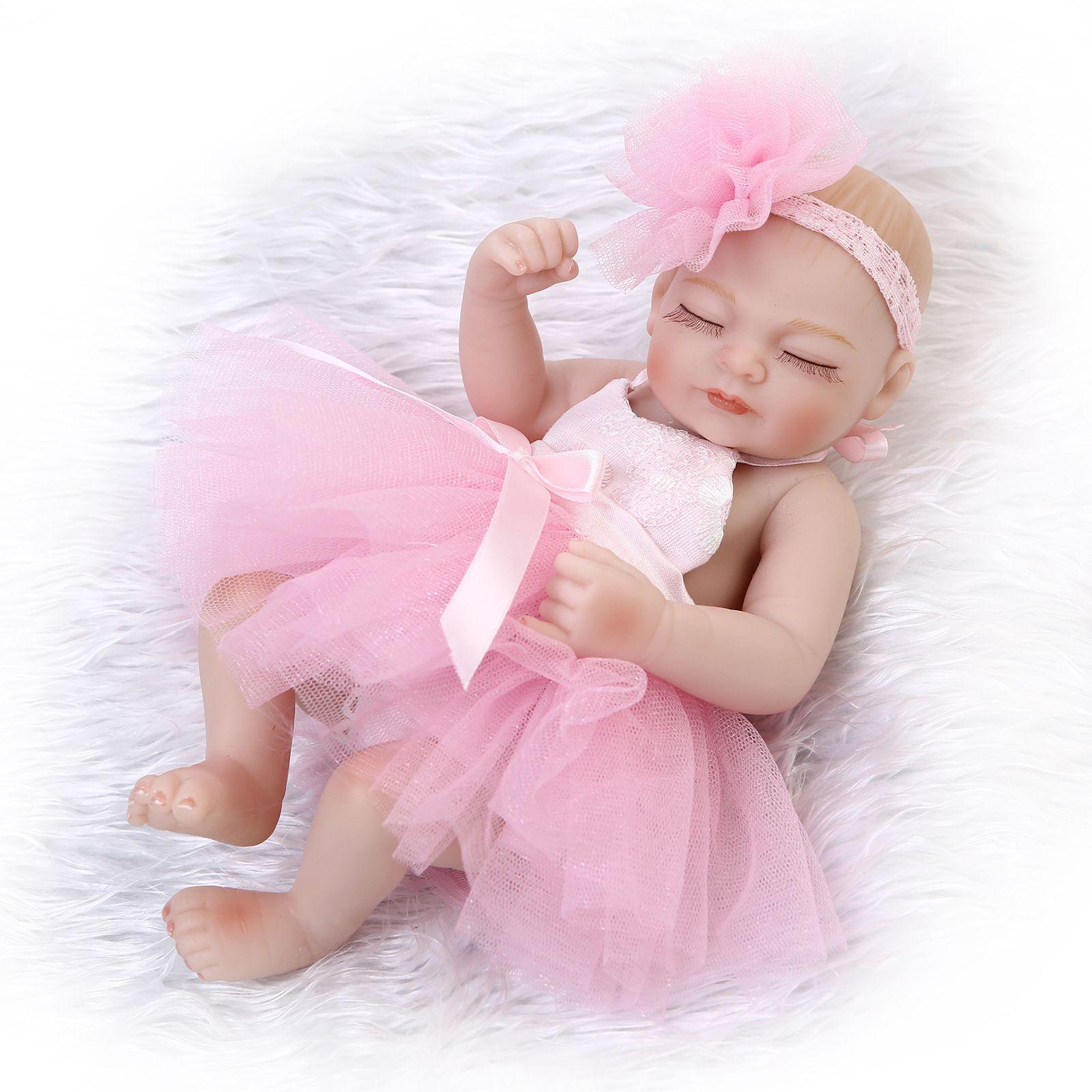 Compre es 10inch Vestido De Boda De Silicona Reborn Baby Doll ...