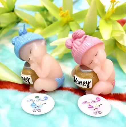 10 قطع العسل الطفل شمعة ل هدايا الزفاف استحمام الطفل عيد الهدايا الإحسان وتعبئتها مع مربع