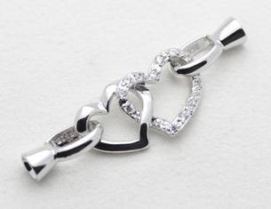 Оптовая жемчужные ювелирные изделия аксессуары натуральный жемчуг ожерелье браслет 925 серебро двойной любящий пряжки YPJ13