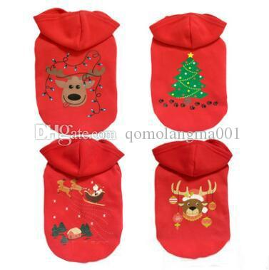 Christmas Dog Hoodies Sweaters Santa Pet Clothes Fall Winter Coat Clothes for Dog Hooded Sweatshirts Pet Clothing Pets Supplies Top Quality