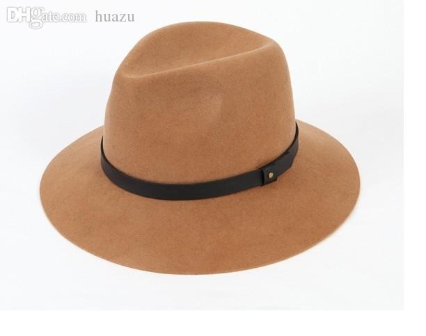 Atacado-Frete grátis Britânico retro sentiu chapéu Grande ao longo do chapéu Coreia do Sul famosa série de TV Você vem do popular chapéu de estrelas