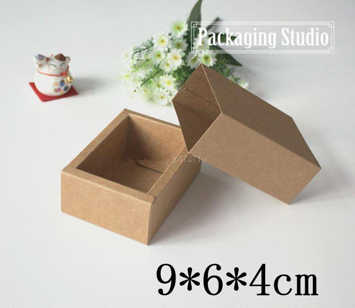 9 6 4cm Small Kraft Drawer Box Handmade Soap Gift Craft Jewel Macarons Packaging Brown Paper Boxes Boxes Packaging Small Cardboard Box From Ts02