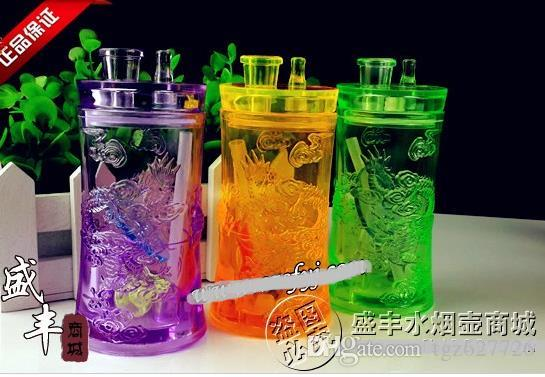 Free shipping wholesale Hookah - Acrylic Hookah Hookah Ssangyong Yiping [], color random delivery