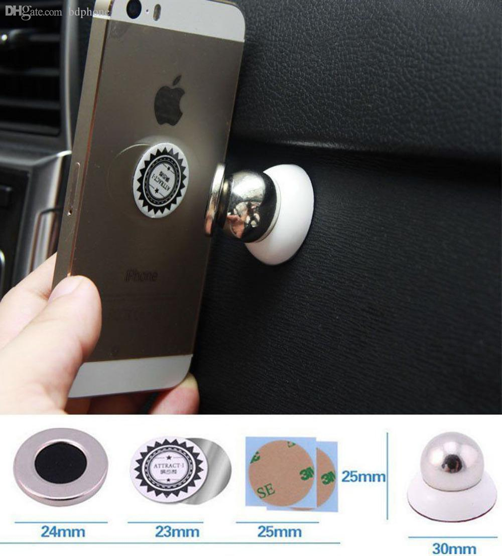 Magnetic Cell Phone Mount >> 2019 Wholesale Magnetic Stand Attaches Ball Car Mount Kit Holder 360 Degrees Sticky For Cell Phone Lg G3 Stylus 5 5 From Bdphone Price Dhgate Com