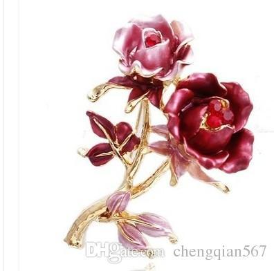 два цвета роза цветок груди брошь ювелирные изделия (xysppfh)