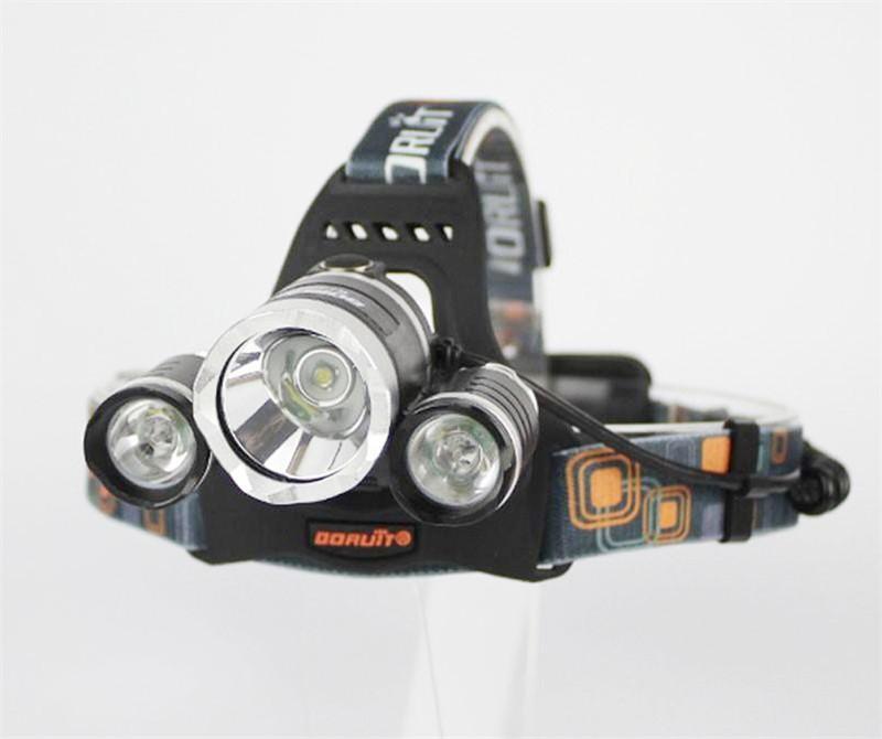 6000Lm 4-Modos CREE XML T6 + 2R5 LED faro faro antorcha de luz que acampa Fishing + 2X4800mAh 18650 batería + coche UE / EE. UU. Cargador