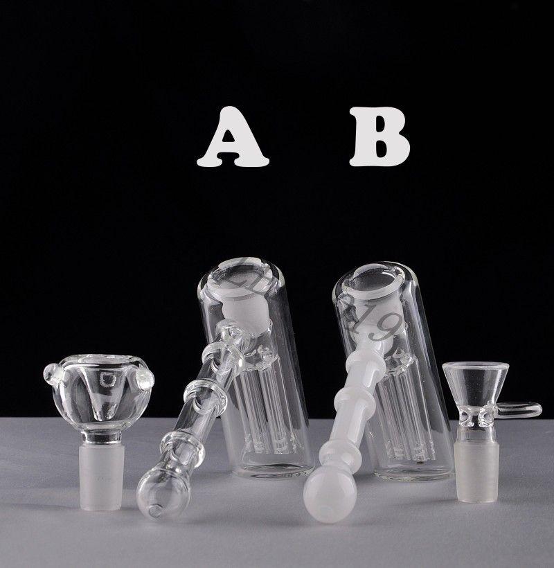 Twee functie glazen hamer 6 arm perc glas percolator bubbler hoge kwaliteit rookpijpen tabak pijp bong bongs douchekop perc