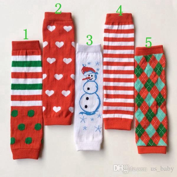 أحمر الأطفال عيد الميلاد قلب شريط أحمر ثلج تدفئة الساق طماق الاطفال الكبار الذراع دفئا ذات نوعية جيدة 12Pair / لوط
