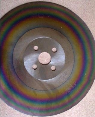 best apol 10inches Schneider Sägeblattes 275 * 1,6 * 32mm HSS-Schneidwerkzeuge M42 Schnellstahl Kreissägeblätter für Edelstahl-Regenbogen